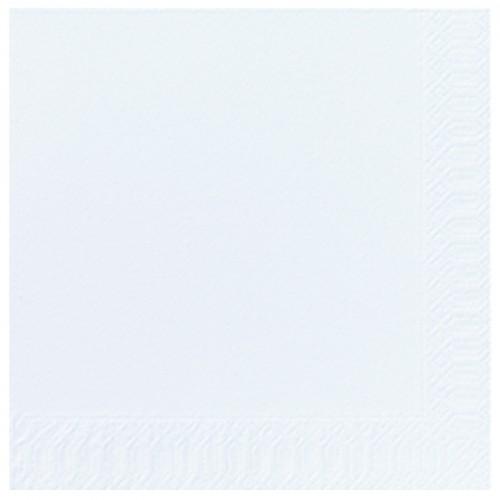 34004 - SERVIETTE OUATE 2 PLIS 24X24 BLANCHE / PAQUET DE 300 (Label FSC)